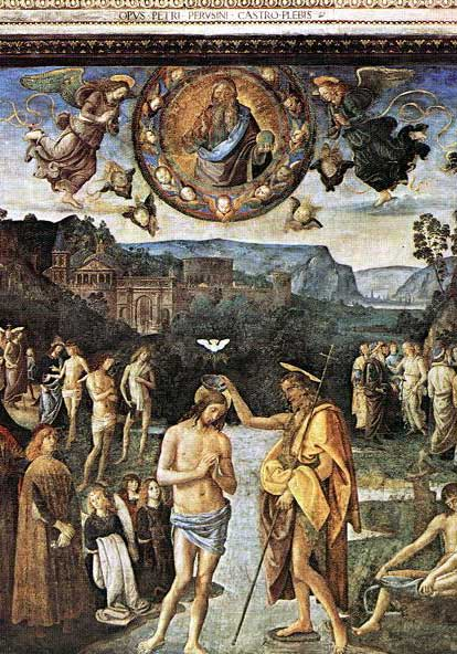 Des ovnis/extraterrestres dans la bible Battesimo_Perugino_part