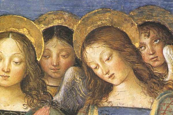 Pinturicchio: angeli (particolare) dans immagini sacre Pinturicchio_Spello_Angeli