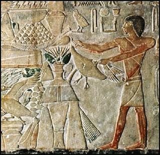 Archéologie Ptah-Hoptep Saqqara_offering